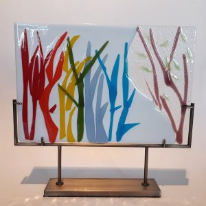 Handmade Fused Glass Panel