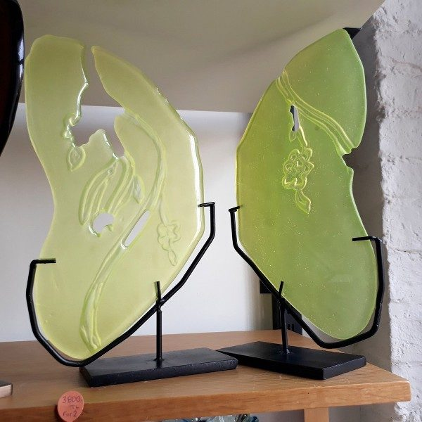Casting glass butterly