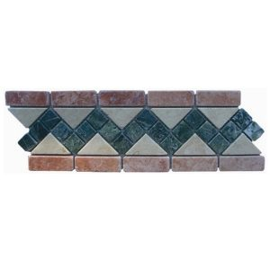 Natural stone netted border