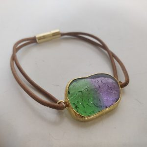 Handmade Fused Glass and braas jewelry
