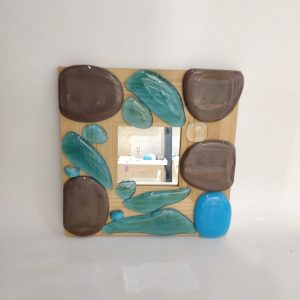 Handmade Fused Glass with mirror