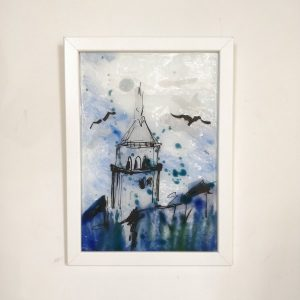 Handmade Glass Painting Frame