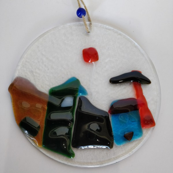 Handmade Fused Glass Ornamental