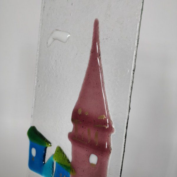 Handmade Fused Glass Candle Horder