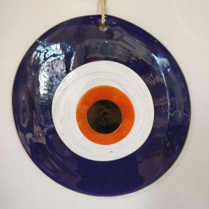 Hand made glass evil eye