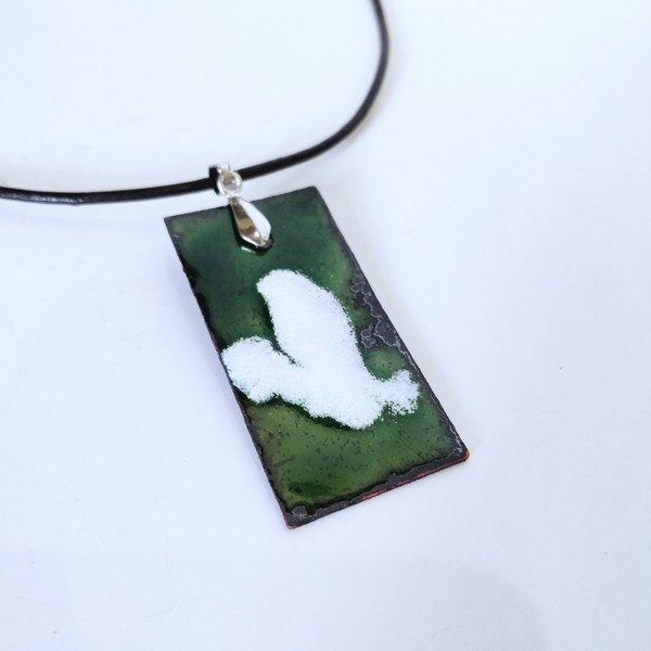 hand made glass enamel Necklace