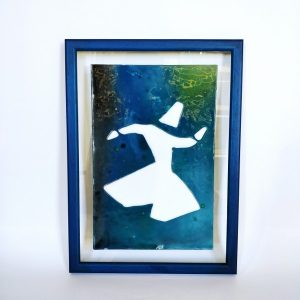 Glass painting and Fused glass in frame