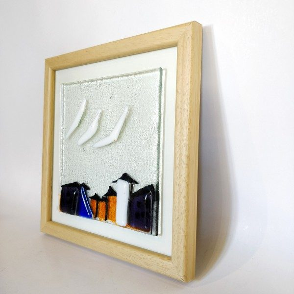 Fused Glass and glass painting for Galata view