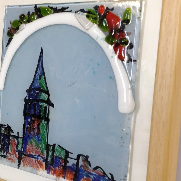 Fused Glass and glass painting for Galata Tower