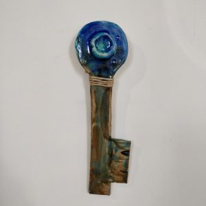 Ceramic Hand made Key Good Luck symbol