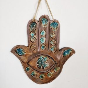 Hand of Fatima or Hamse hand made by Ceramic