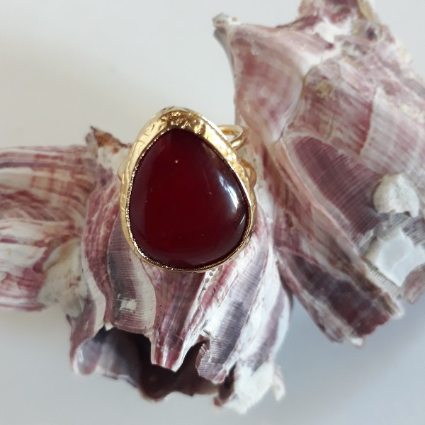 Handmade Fused Glass and braas ring jewelry