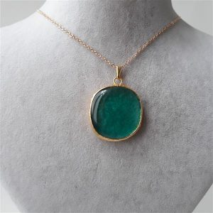 Handmade fusion necklace with brass