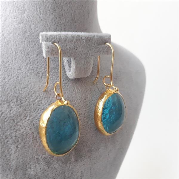 Handmade fusion earings with brass