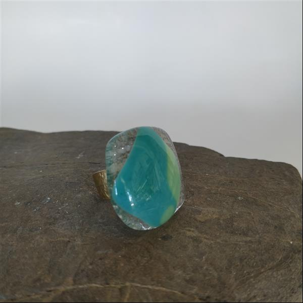 Handmade fused glass ring