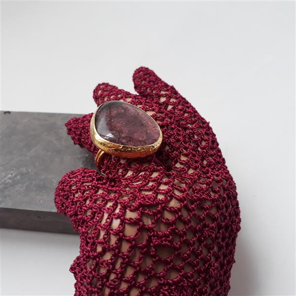 Handmade fusion ring with brass