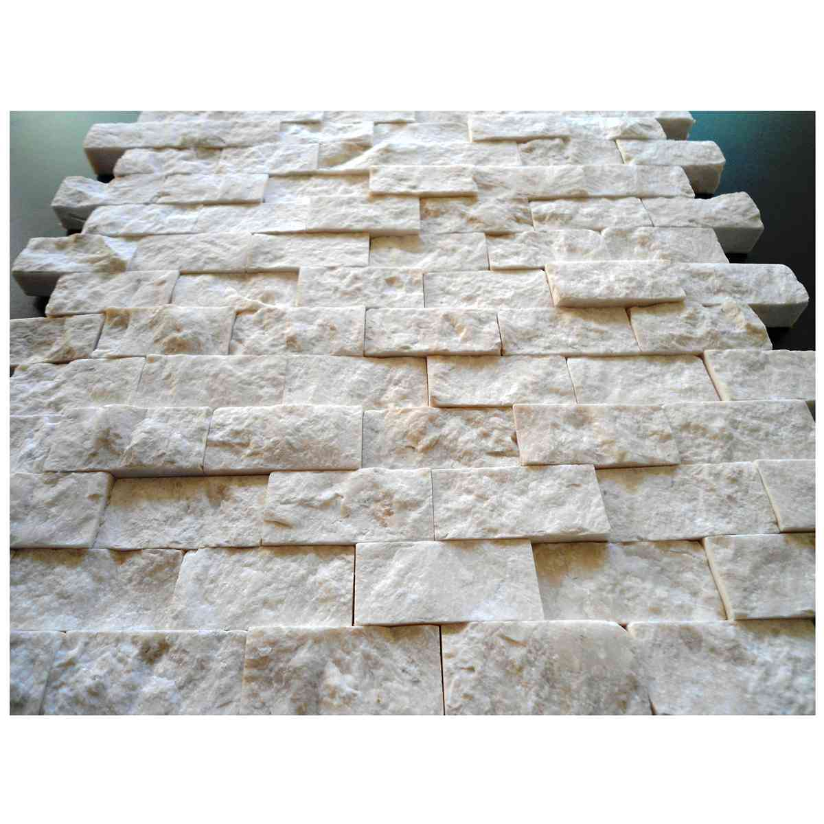 2,3x4,8 Split face beiege boticino marble mosaic
