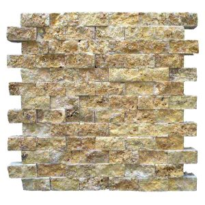 2,3x4,8 Split facegolden yellow travertine mosaic