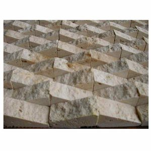 Natural stone classic chiao travertine bermuda type splif face mosaic