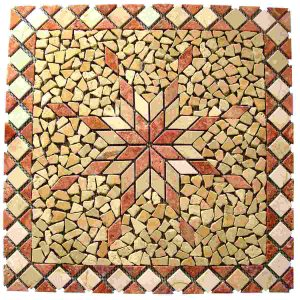 Natural stone netted decor