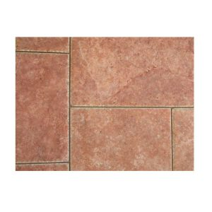 30,5x40,6x2,8 Rosso Travertine Brushed-Chisseled edge