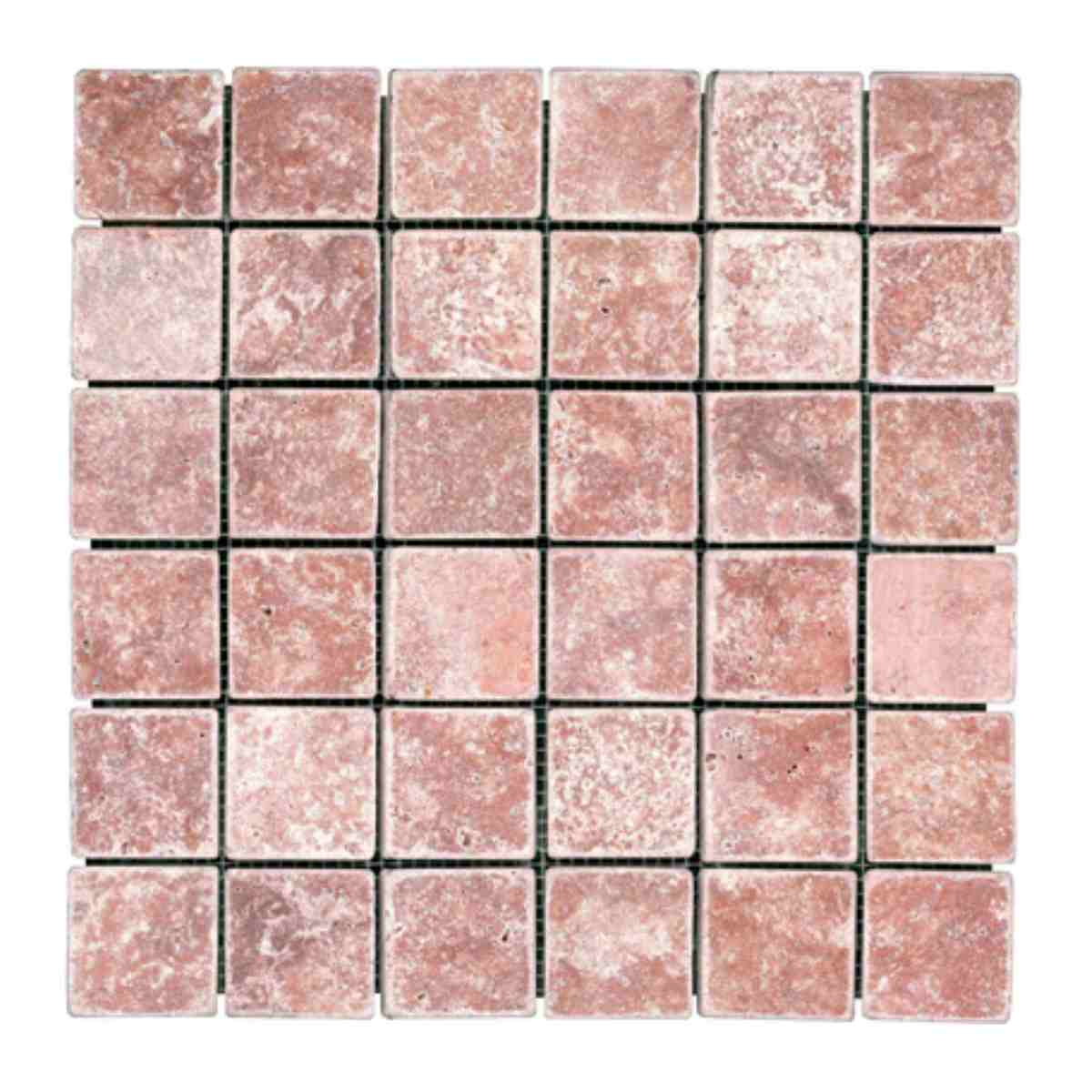 Natural stone netted rosso mosaic