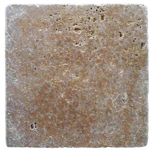 30,5x30,5x1 cm Tumbled antique noche travertine tile
