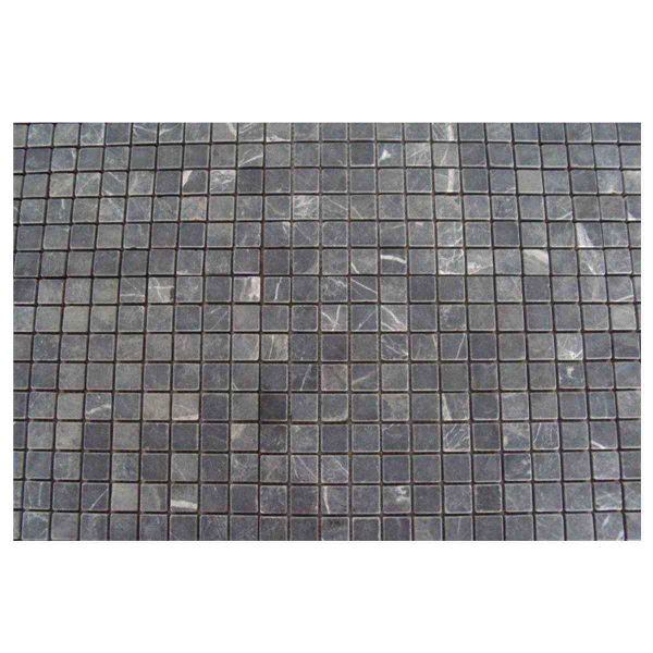 Natural stone netted nero mosaic