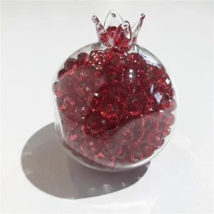 Handmade glass Pomegranade