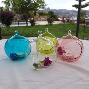 Round Glass tealight holder